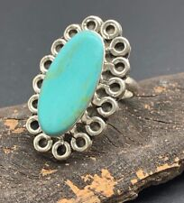 NEW Mexican TURQUOISE Ring 7 1/2 sz 7.5 Sterling 925 Silver Taxco Mexico