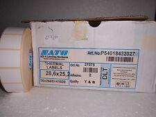 SATO Thermoetiketten DLT 28,6x25,2 1 Rolle = 2.600 Stück (R0C4)