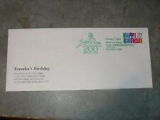 JOHN DEERE's 200th Birthday Envelope, Feb 7, 2004 Cancellation, Birthday Stamp