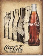 Coca Cola Coke The Real Thing Bottle Ad Vintage Retro Wall Decor Metal Tin Sign