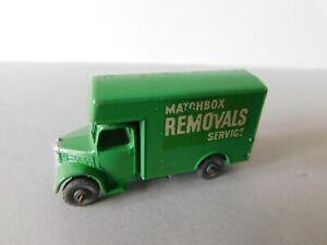 Matchbox Lesney No.17a Green Bedford Removals Van Metal Wheels 1950s