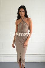 Women's Sleeveless V Neck Calf Length Wiggle, Pencil Dresses