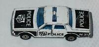 Majorette Black & White Chevrolet Impala No. 240 Police Car, 1:69 scale