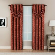 "HFI Bellagio Grommet Top Curtain 2 Panels 50"" x 84"" SPICE 100 X 84 NEW"