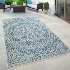 In- & Outdoor-Teppich, Für Balkon Und Terrasse Mit Orient-Muster, In Blau