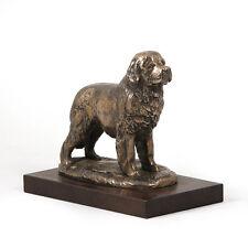 Neufundländer, Holz Statuette, Bronze, ArtDog, CH