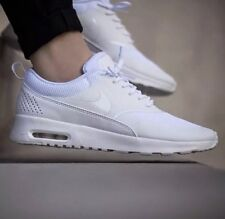2e19d28d660  New  Nike Air Max Thea Big Kids Size 4Y White Met Silver 814444
