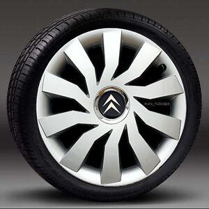 "4x15"" wheel trims, Hub Caps, Covers to fit Citroen C3,C4,C5,Picasso"