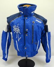 Spyder Blue White Thinsulate Insulated Nylon Ski Coat Zip Up Jacket Sz XS