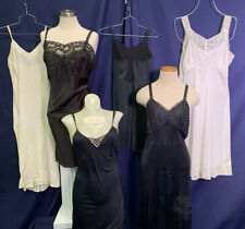 New listing Vintage Slips 1940s 1950s Lingerie Nightgowns Ivory Black Lace Mary Barron