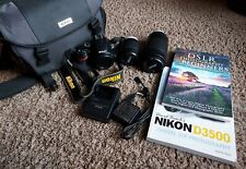 Nikon D3500 DSLR Camera with 18-55mm and 70-300mm Lenses. W/ 128 GB Memory card