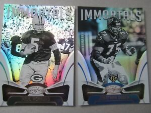 2018 Panini Certified Lot of (2) Immortals Mirror Parallel #/499 Hornung & Ogden