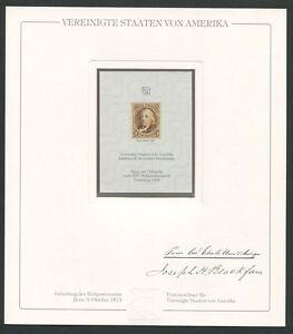 USA No. 1 OFFICIAL REPRINT UPU CONGRESS 1984 MEMBERS ONLY! RARE! z1481