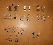 anciennes vintage BRITAINS figurines - GARDIENS du CIRQUE ANIMAUX SAUVAGES + ...