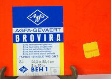 25 Sheets Vintage Afga Gevaert Brovira Beh 1 Sealed Photographic Paper 8X10