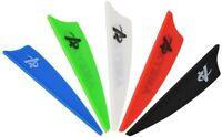 "50pcs 2"" 3'' 4'' Archery Rubber Vanes Fletches Arrows DIY Bow Hunting Shooting"