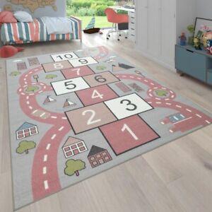 Teppich Kinderzimmer Kinderteppich Spielteppich Straßen Design Mit Hüpfkästchens