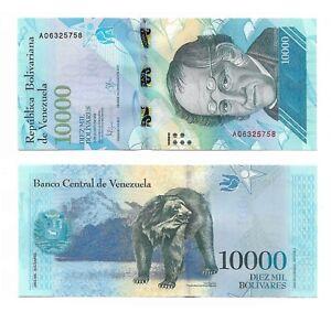 VENEZUELA NOTE 10000 BOLIVARES 2016 (2017) PREFIX A P 98a UNC