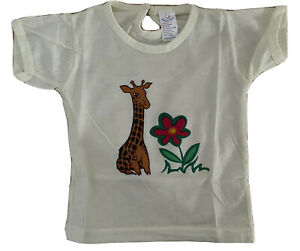 Vintage sunny Baby 3-6 Months Baby T-Shirt Yellow Giraffe Flower