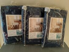 3 Sure Fit Cotton Duck Indigo Blue Navy  Dining Room Shorty Skirted Chair Cover