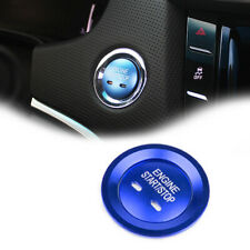 Blue Keyless Engine Push Start Button Trim w/Cover Ring For Cadillac Chevy GMC
