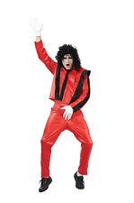 # Pop Star MICHAEL JACKSON stile superstar rosso vestito Uomo THRILLER Costume