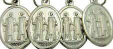 """MRT 4 Lot St Cosmos & Damien Science Catholic Medal Silver Tone Metal 3/4"""" Italy"""