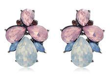 Drop Dangle Stud long Earrings 096 1 Pair Elegant Multi Crystal Rhinestone Ear