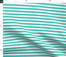 Stripes Teal Blue Small Turquoise Littlearrow Fabric Printed by Spoonflower BTY