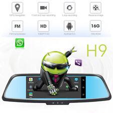 "7"" HD 1080P Dual Lens Car Rearview Mirror 3G WIFI GPS FM Car DVR Dash Cam Camera"