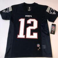 Tom Brady NFL New England Patriots Blue Jersey NWT Youth Kids Size Small