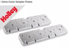 Holley 241-296 LS To 58-86 SBC Valve Cover Adapter Plates Polished MAKE OFFER!!
