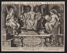 """Portada de Jan Sadeler """"esquema seu Speculum principum"""" 1597 original!!!"""