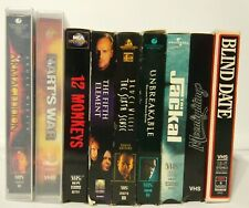Bruce Willis  VHS Lot Of 9 Tapes.