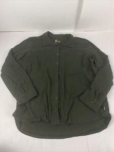 Carhartt Youth XL (16/18) Long Sleeve Button Down Shirt Green