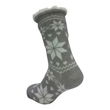 LADIES WARM THERMAL INSULATED THICK WINTER SOCKS 4.7 TOG UK 6-11 399C GREY