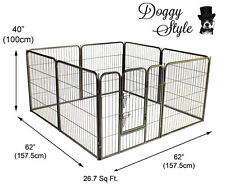 DOGGY STYLE 8 SIDED HEAVY DUTY PUPPY PLAY PEN WHELPING DOG CAGE FENCE DS-HD01L