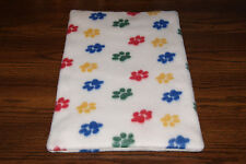 New Paw Print Fleece Dog Cat Pet Carrier Crate Bed Blanket Pad Free Shipp! Bcr