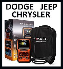 FOXWELL DODGE JEEP CHRYSLER DIAGNOSTIC SCANNER TOOL READER CODE ABS SRS NT510
