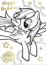MY LITTLE PONY COLOURING IN BIRTHDAY CARD AND POSTER NEW GIFT