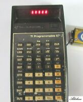 Retro vintage Texas Instruments Ti 57 programmable Calculator  Tested Working