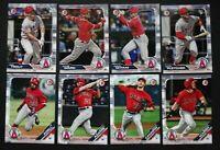 2019 Bowman Los Angeles Angels Paper Base Team Set 8 Baseball Cards
