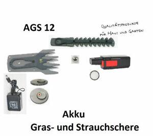 AGS 12 Grizzly Tools Akku Grasschere  ZUBEHÖR Strauchmesser Ladegerät  Akku
