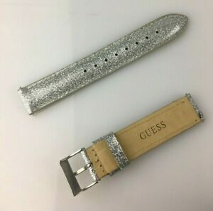 Sangle GUESS 16MM Vrai Cuir Montre Glitter Band Cuir Véritable