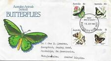 AUSTRALIA 1983 BUTTERFLIES SET OF FOUR ON FDC  MY REF 1060