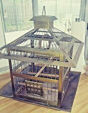 Antique Brass Hendryx Bird Cage/aviary Rare Shape Aviary