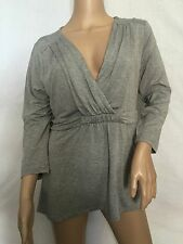 NEW  Boden Gray V Neck Tee Top Tunic Size US 16 *