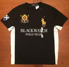 Polo Ralph Lauren Big Pony Blackwatch Crest Logo T Shirt Black 2xl