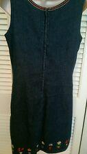 Dress JUMPER sleeveless BLUE JEAN size 8 ladies' EUC Christopher & Banks