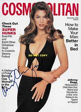 CINDY CRAWFORD 8X10 AUTHENTIC IN PERSON SIGNED AUTOGRAPH REPRINT PHOTO RP